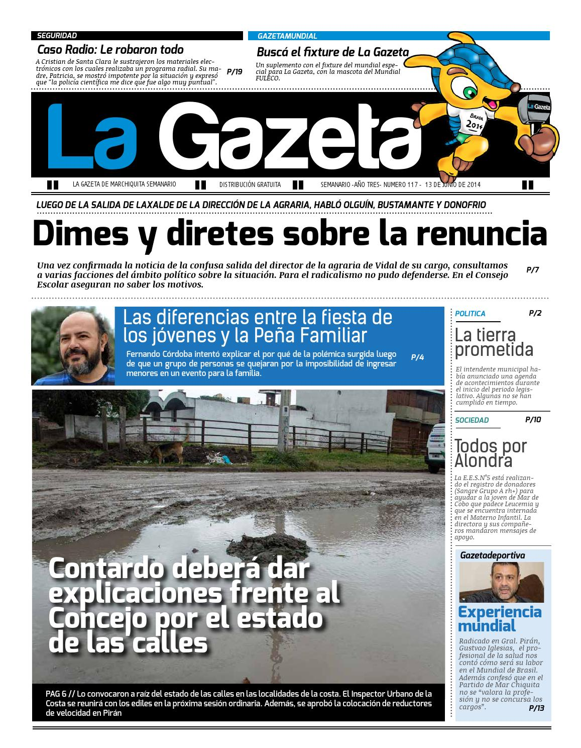 La Gazeta (13/06/14) by La Gazeta Mar Chiquita - issuu
