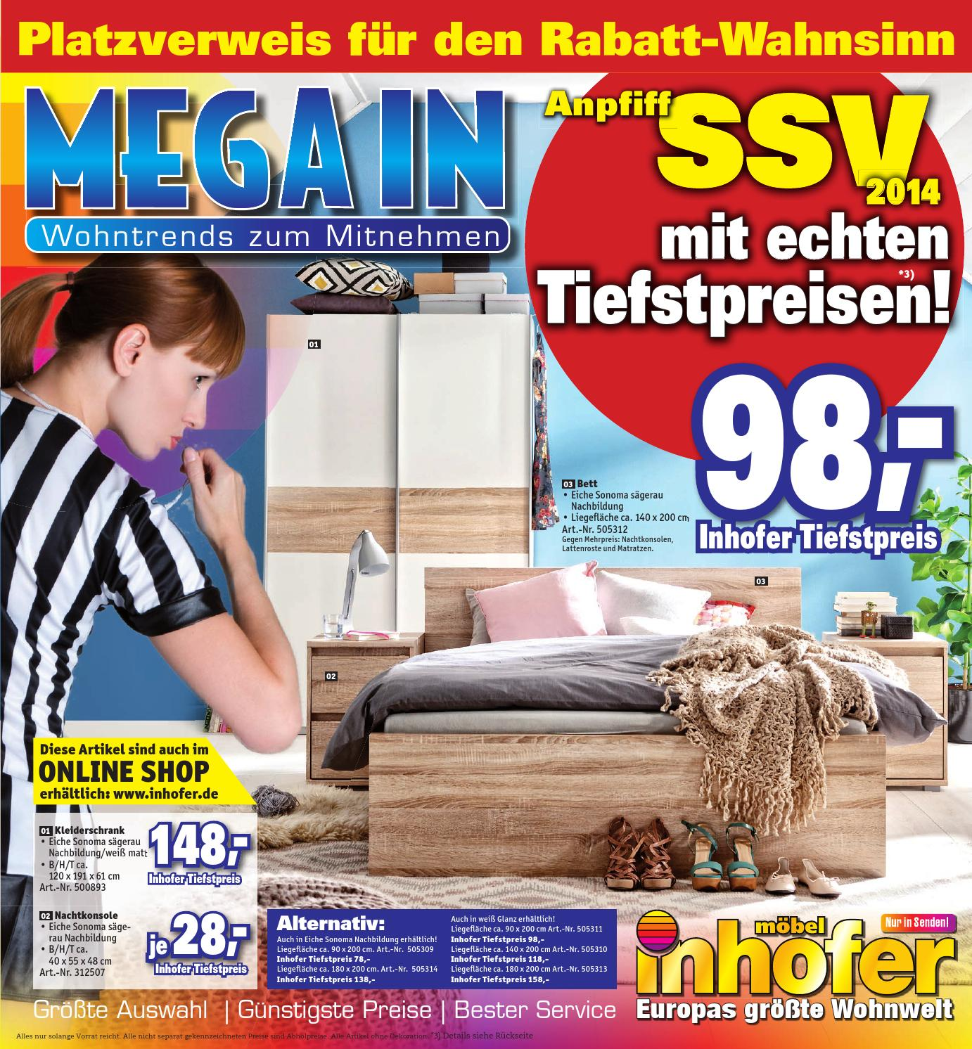 inhofer mega in prospekt kw 25 by media service ostalb gmbh issuu. Black Bedroom Furniture Sets. Home Design Ideas