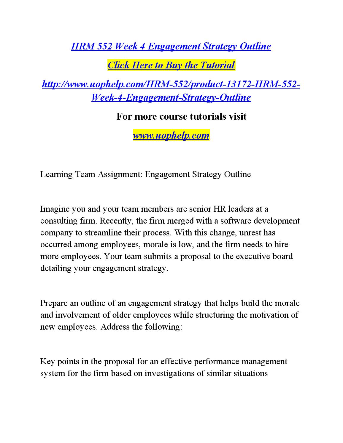 hrm 552 wk 4 team strategy 1 cherns case study: strategic staffing tara derivan hrm/548 december 12,   chern's is looking to identify the appropriate staffing goals for staffing their   hrm 552 week 6 team - current hr trends university of phoenix hrm 552.
