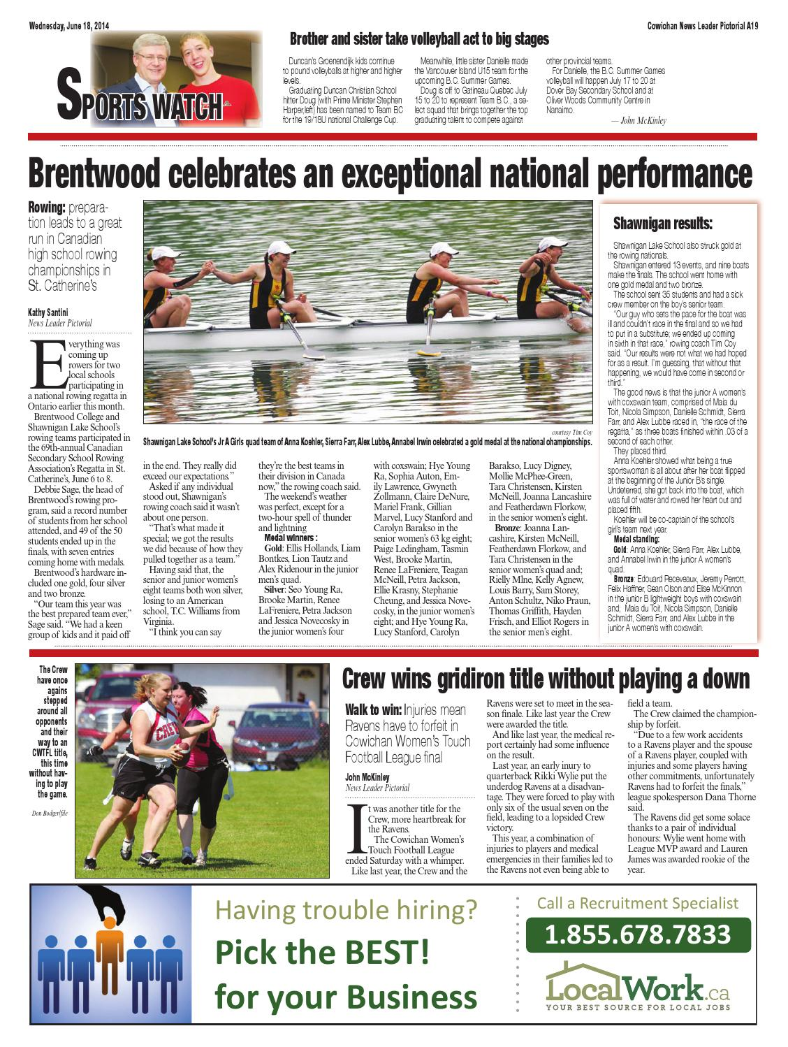 Cowichan News Leader Pictorial, June 18, 2014 by Black Press