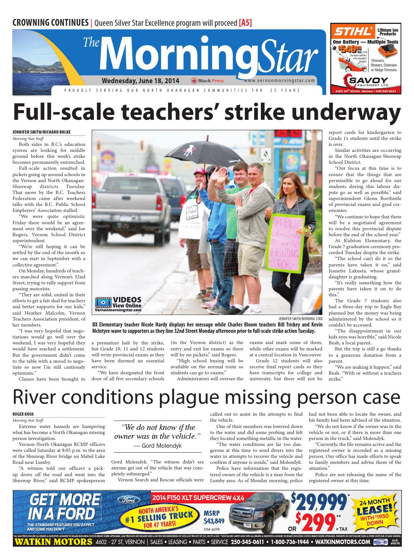 Vernon Morning Star, June 18, 2014