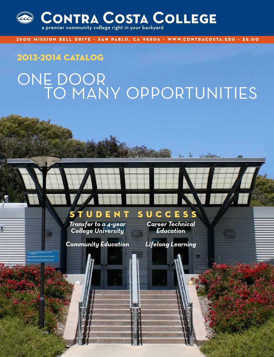 Contra Costa College Catalog 2013-2014 by Contra Costa College - issuu