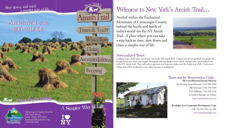 2014 New York's Amish Trail Brochure by Cattaraugus County - issuu Cattaraugus County Tax Map on
