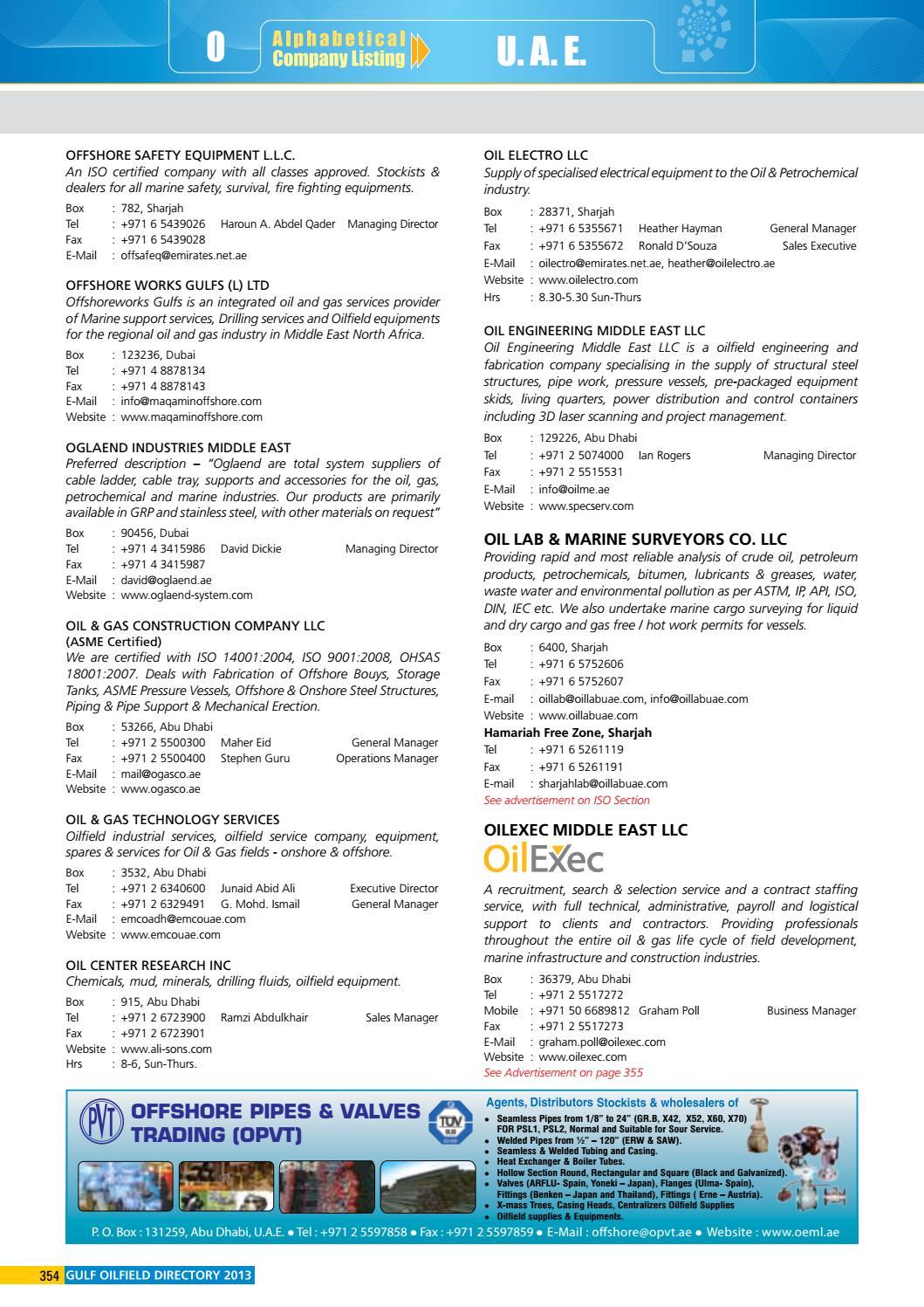 Gulf Oilfield Directory 2013 Edition by Sven Boermeester - issuu