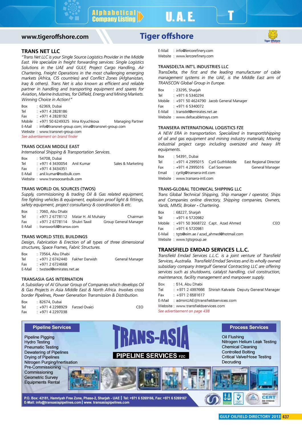 Gulf Oilfield Directory 2013 Edition