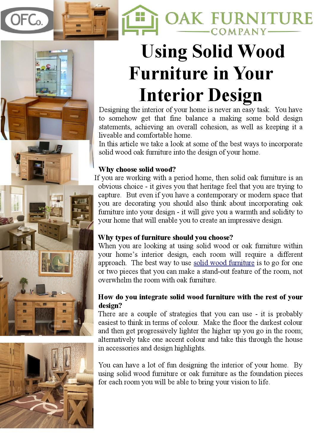Using Solid Wood Furniture In Your Interior Design By Rhia Williamson    Issuu