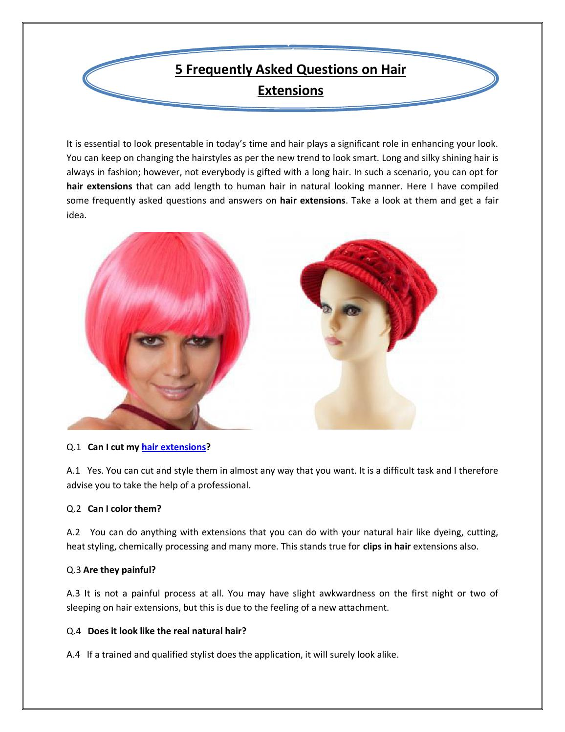 5 Frequently Asked Questions On Hair Extensions By Curly Sues Issuu