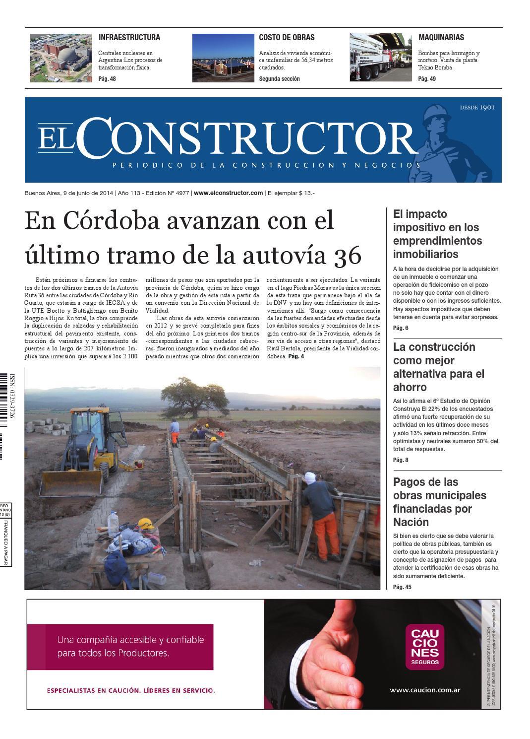El Constructor 09/06/2014 - N° 4977 Año 113 by ELCO Editores - issuu