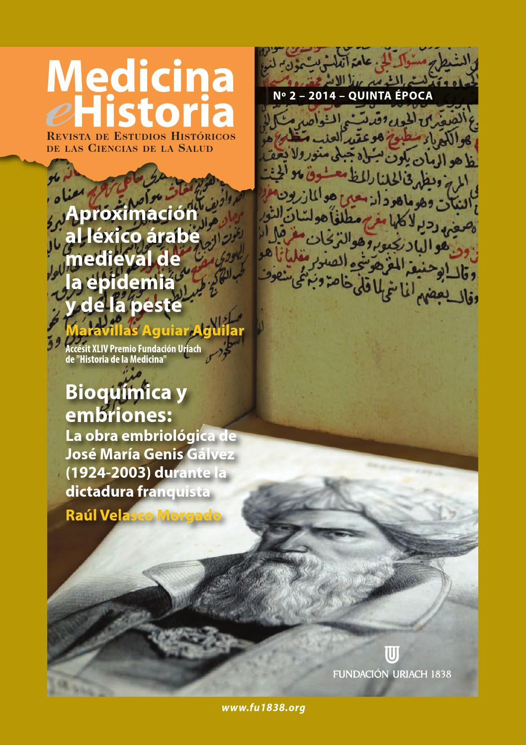 Medicina & Historia 2014-2 by Fundación Uriach 1838 - issuu