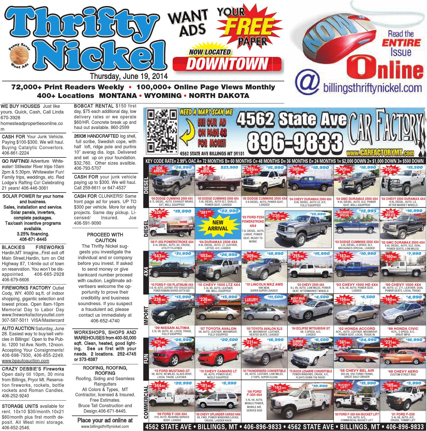 Thrifty Nickel June 19 By Billings Gazette Issuu 1987 Toyota Pickup Undercarriage Wiring Harness