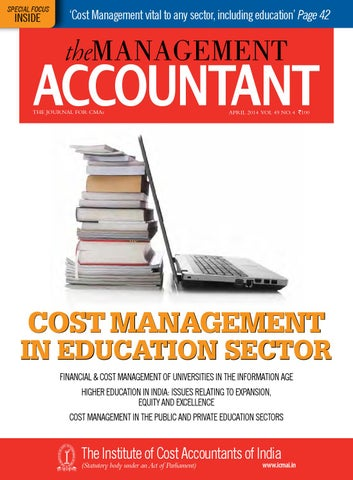 The Management Accountant, April 2014 by THE MANAGEMENT