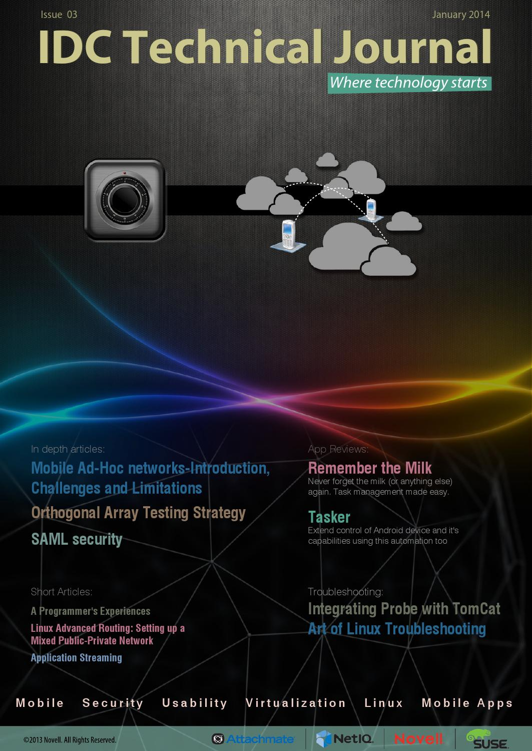 IDC Technical Journal - Issue 3 by Novell IDC - issuu