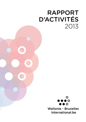 Rapport d activités 2013 by Wallonie-Bruxelles International - issuu 1cd30c5150ac