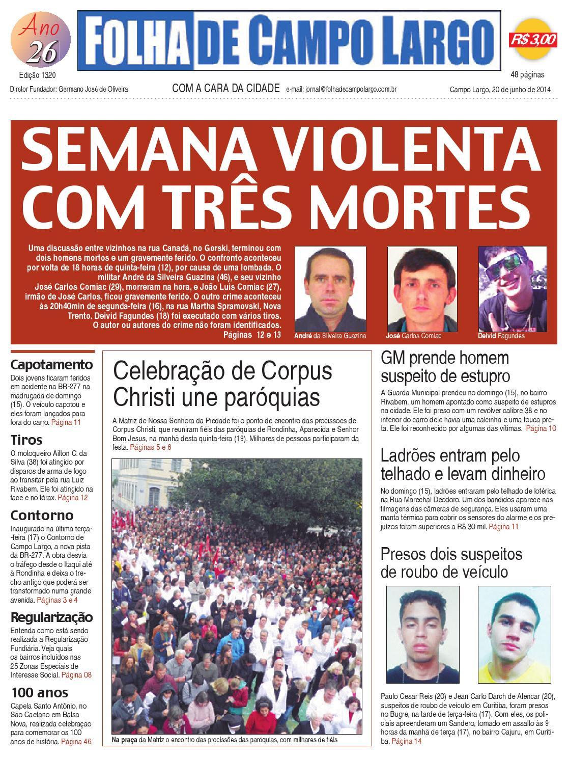 Folha de Campo Largo (20 06 2014) by Folha de Campo Largo - issuu e5e3b861f3f0c