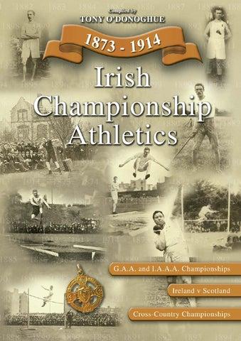 Irish Championship Athletics Book By Rooney Media