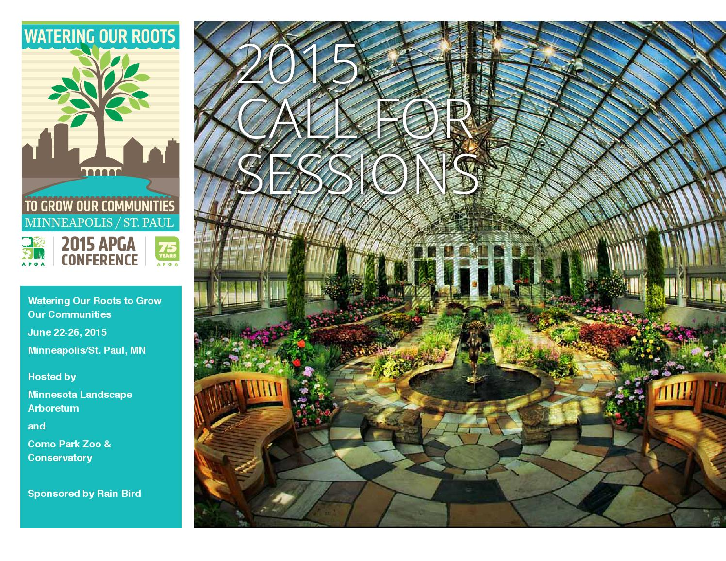 Apga 2015 Call For Sessions By American Public Gardens