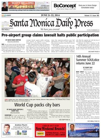 Santa Monica Daily Press June 30 2014 By Santa Monica Daily Press