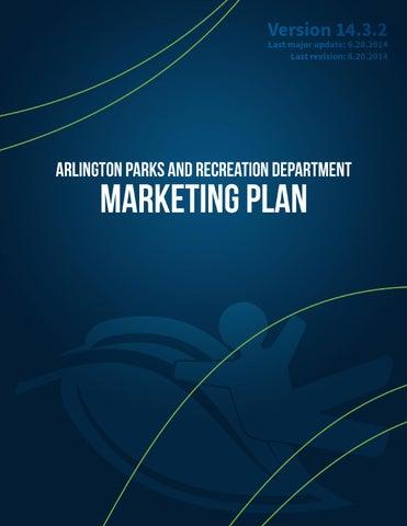 Marketing Plan Version 14 3 2 Arlington Parks And Recreation