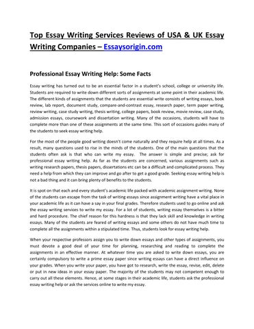 top essay writing services reviews of usa uk essay writing  top essay writing services reviews of usa uk essay writing companies a x20ac x201c essaysorigin com professional essay writing help some facts essay
