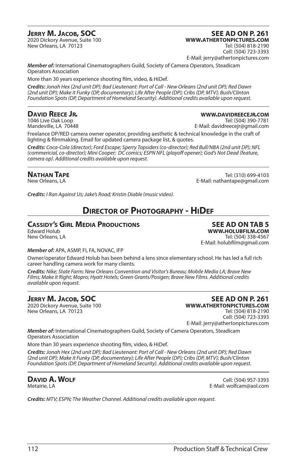 Louisiana Entertainment Sourcebook 2014 - 2015 by Oz