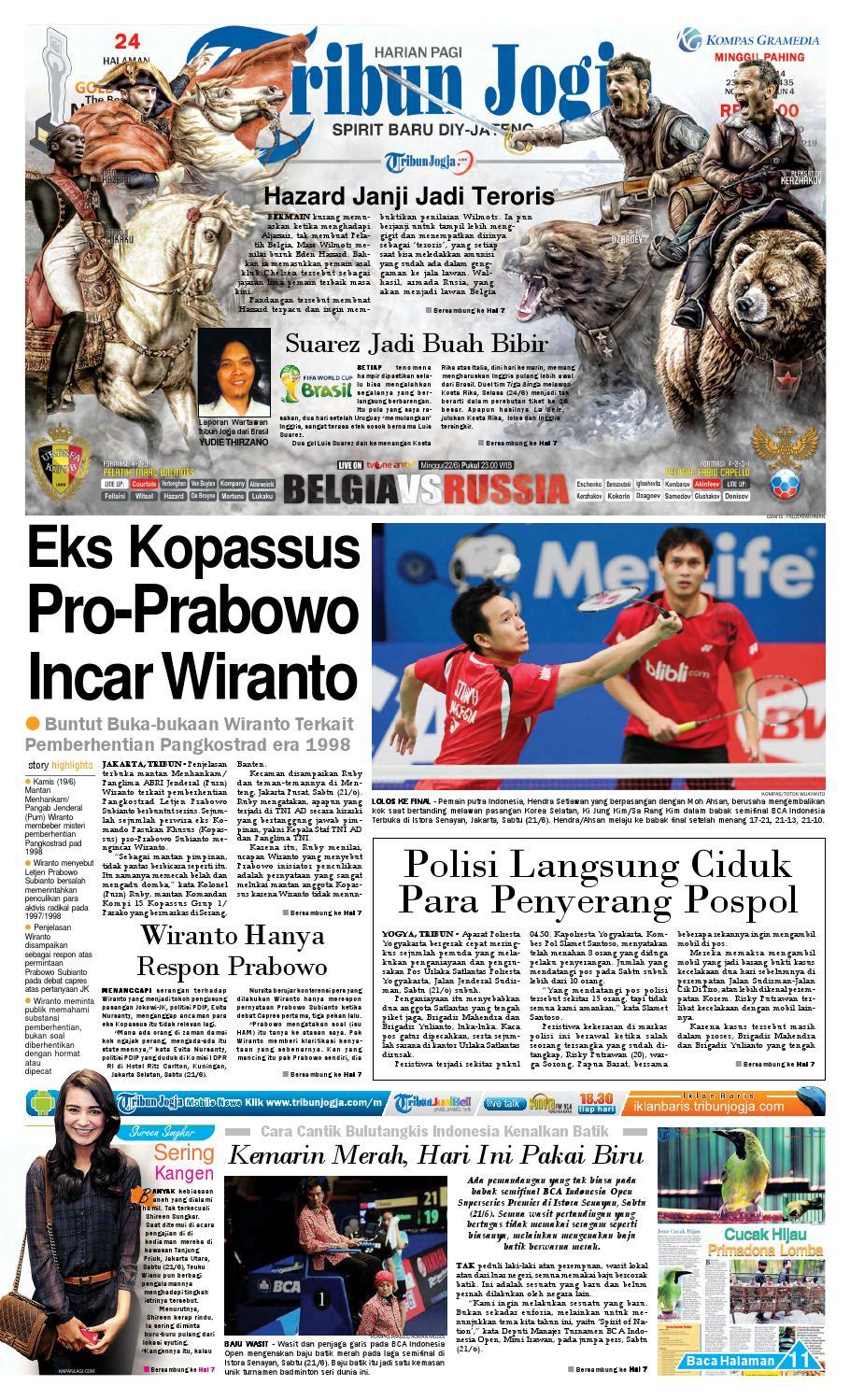 Tribunjogja 22 06 2014 By Tribun Jogja Issuu Strong Kangen Water Ph 115 Ukuran 1000 Ml Terapi Air Kelas Dunia Indonesia