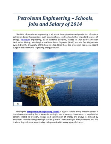 petroleum engineering schools