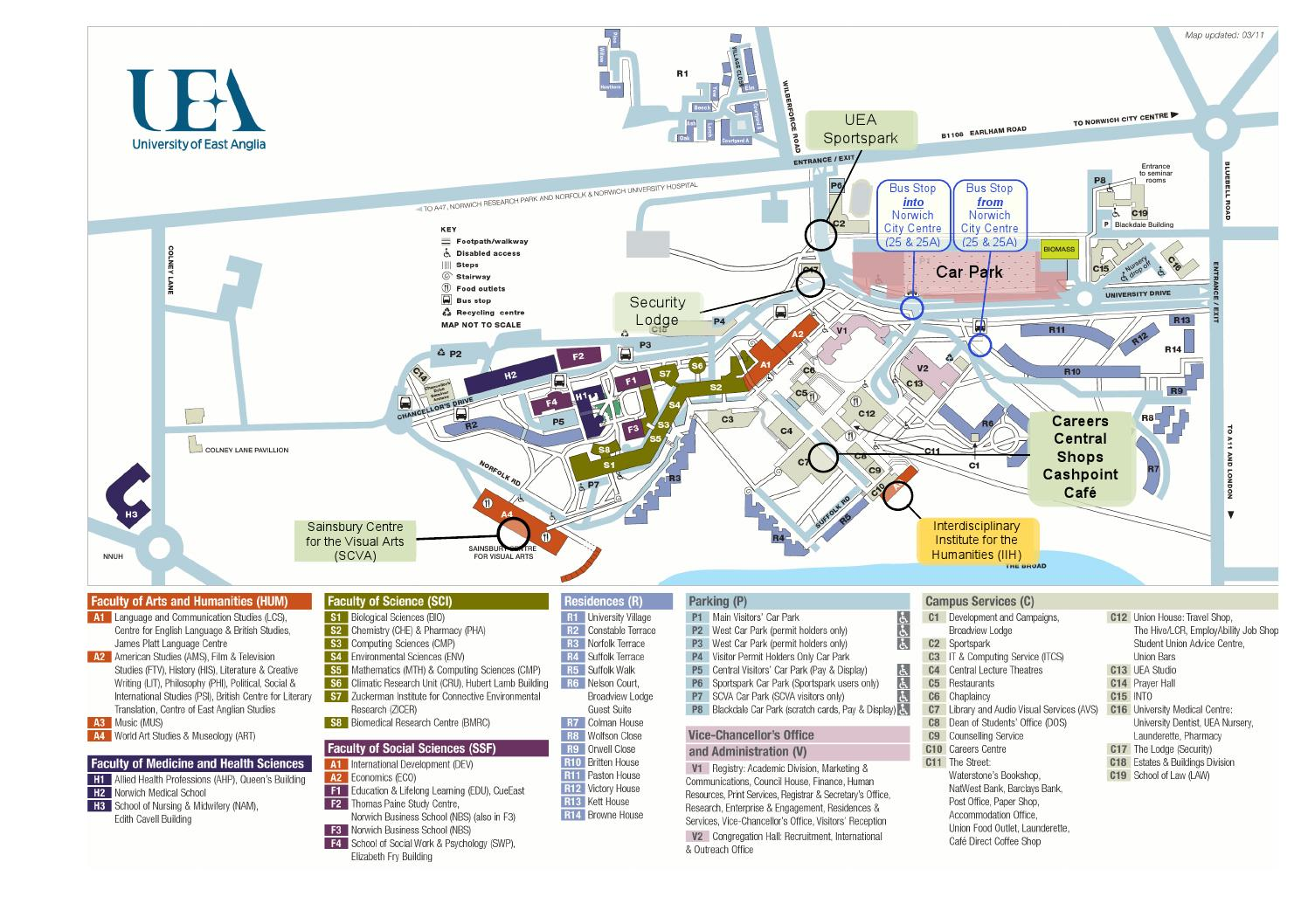 uea map of campus Uea Campus Map By Siobhan Hoffmann Issuu uea map of campus