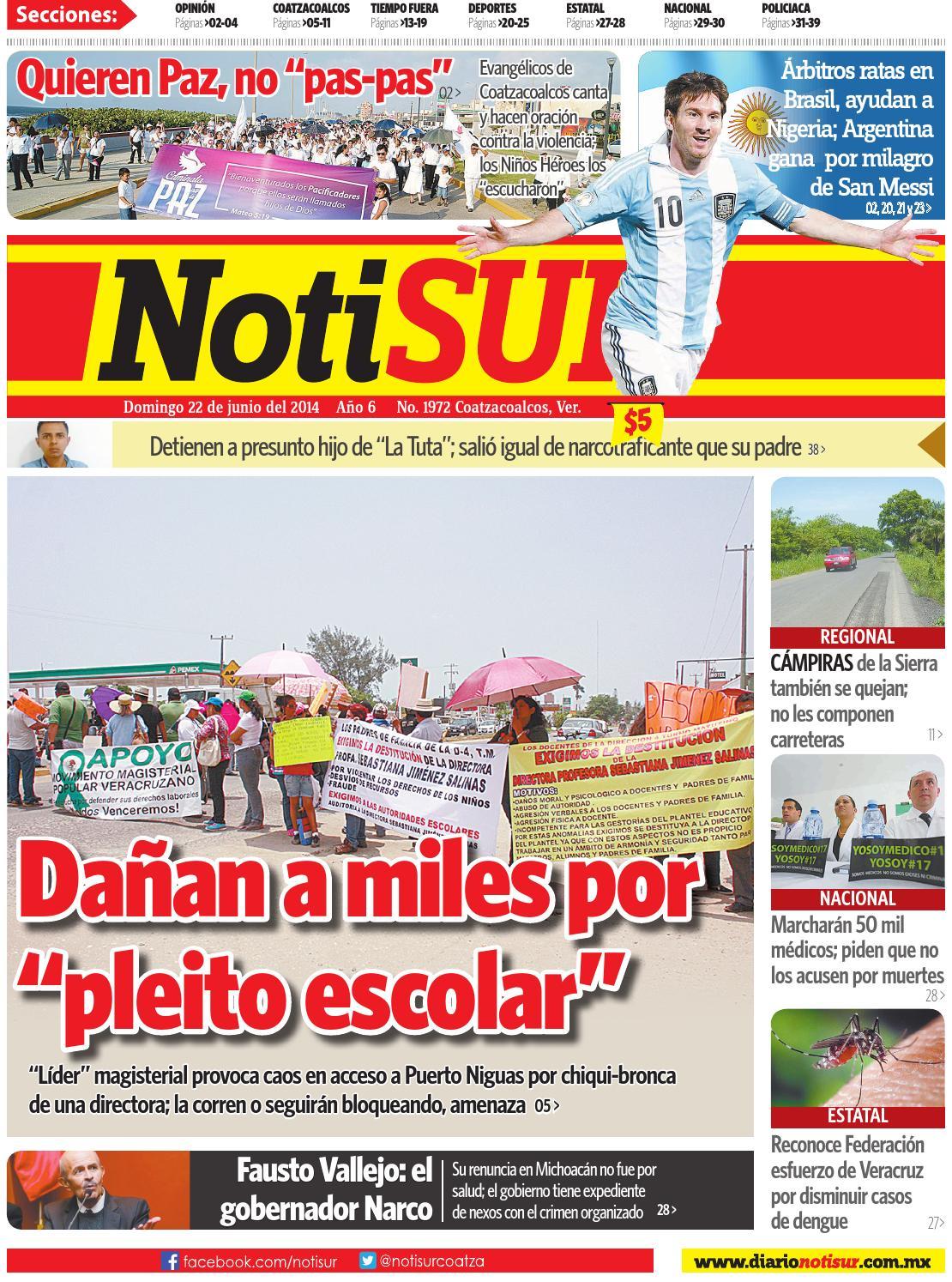 NotiSUR 22 de junio 2014 by Diario NotiSUR Coatzacoalcos 2014 - issuu 825a35cce3867