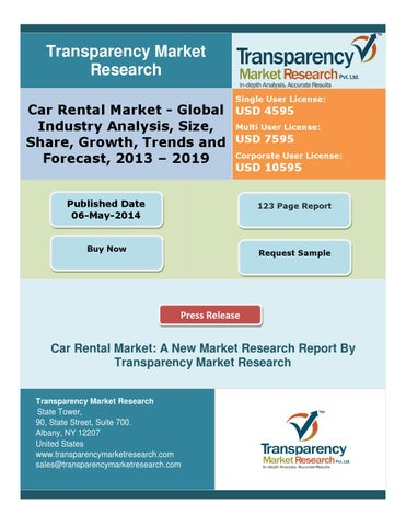Car Rental Market Global Industry Analysis Size Share Growth