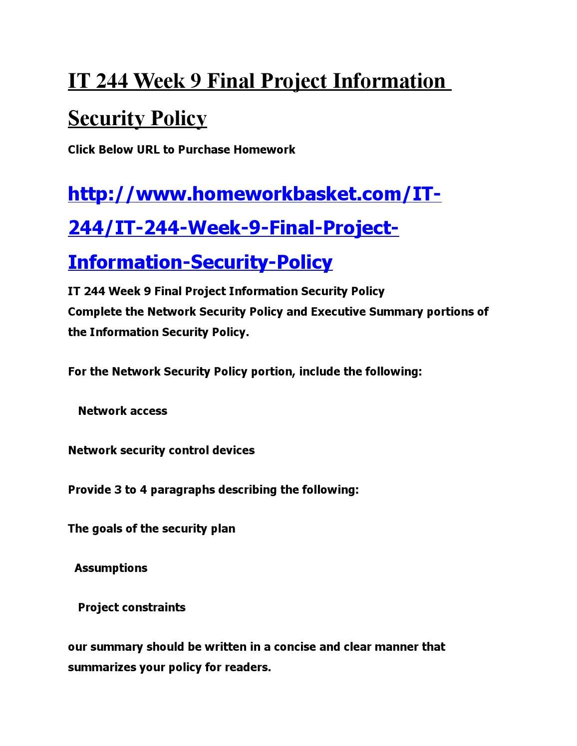 it 244 appendix c week 1 It 244 week 1 assignment introduction to the information security policy paper (new) it 244 week 1 assignment introduction to the information security policy paper (new) published on jul 11, 2017.
