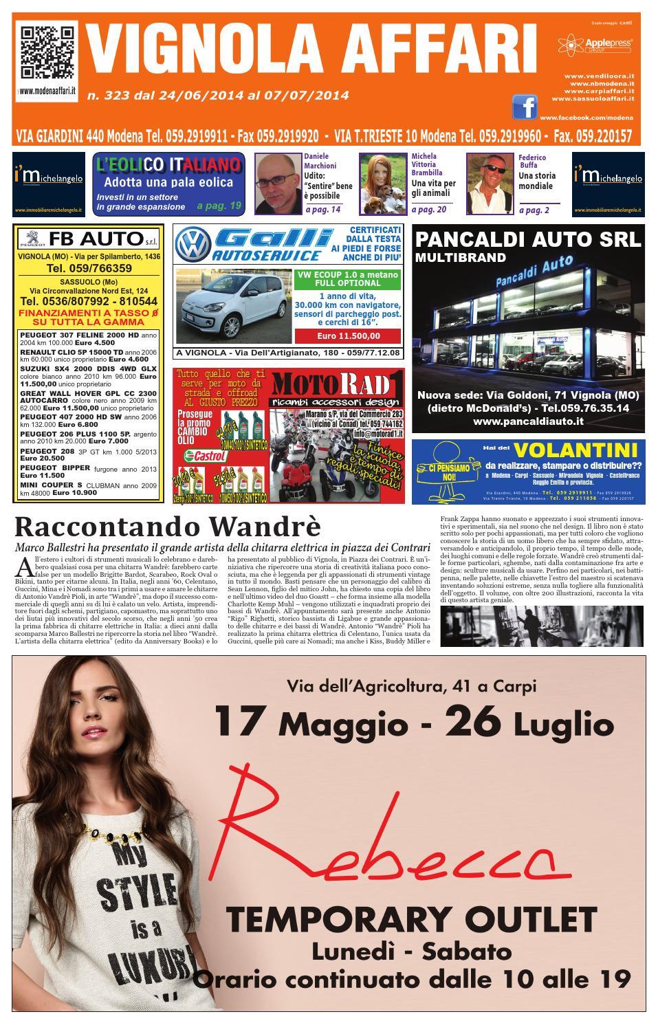 Vignola affari 323 by apple press group srl issuu for Planimetrie di 2000 piedi quadrati una storia