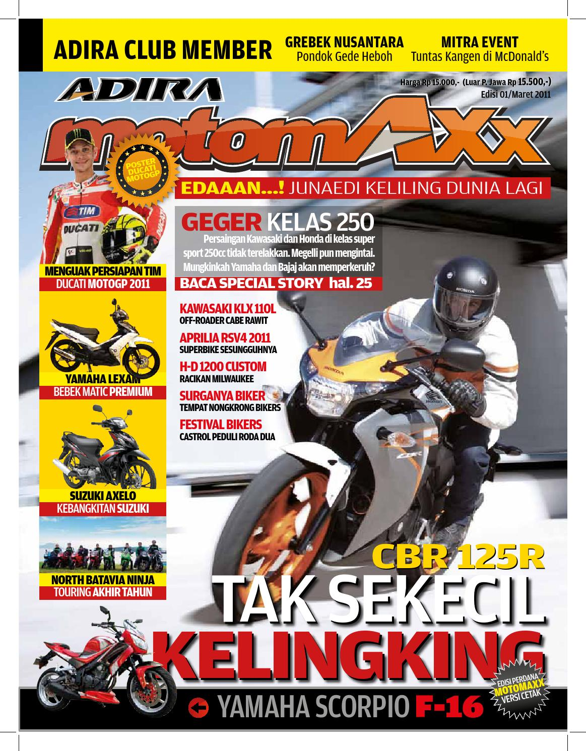 Motomaxx 03 2011 By Adira Member Issuu New Supra X 125 Fi Cast Wheel Quantum Matte Black Grobogan