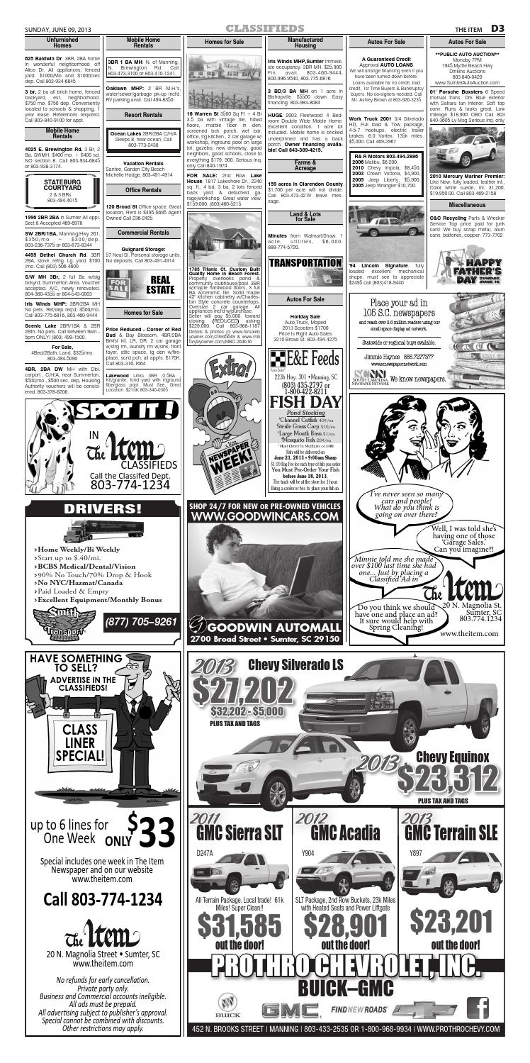 Sumter Auto Mall >> June 9 2013 By The Sumter Item Issuu