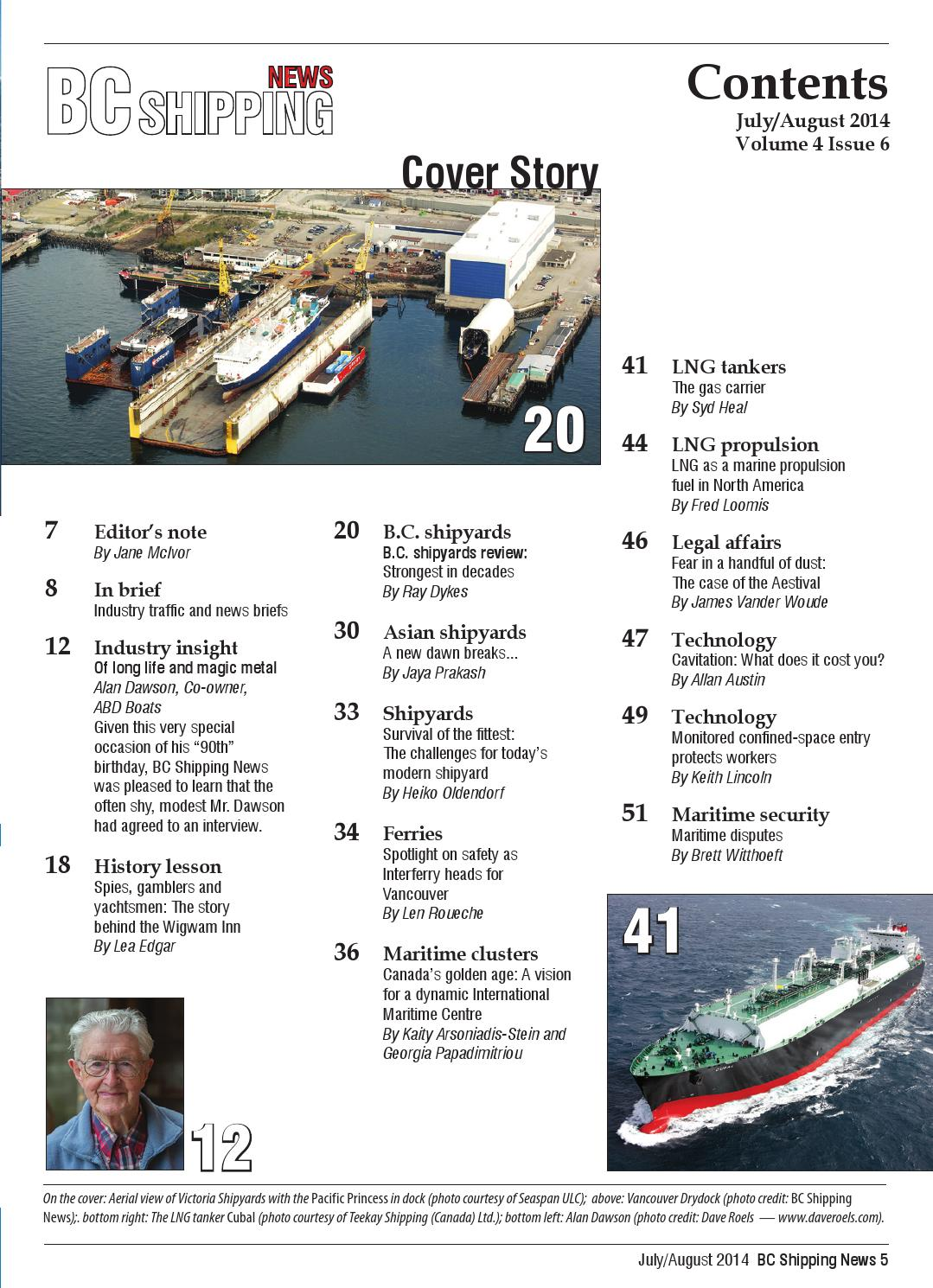 Maritime Len bc shipping july august 2014 by bc shipping issuu