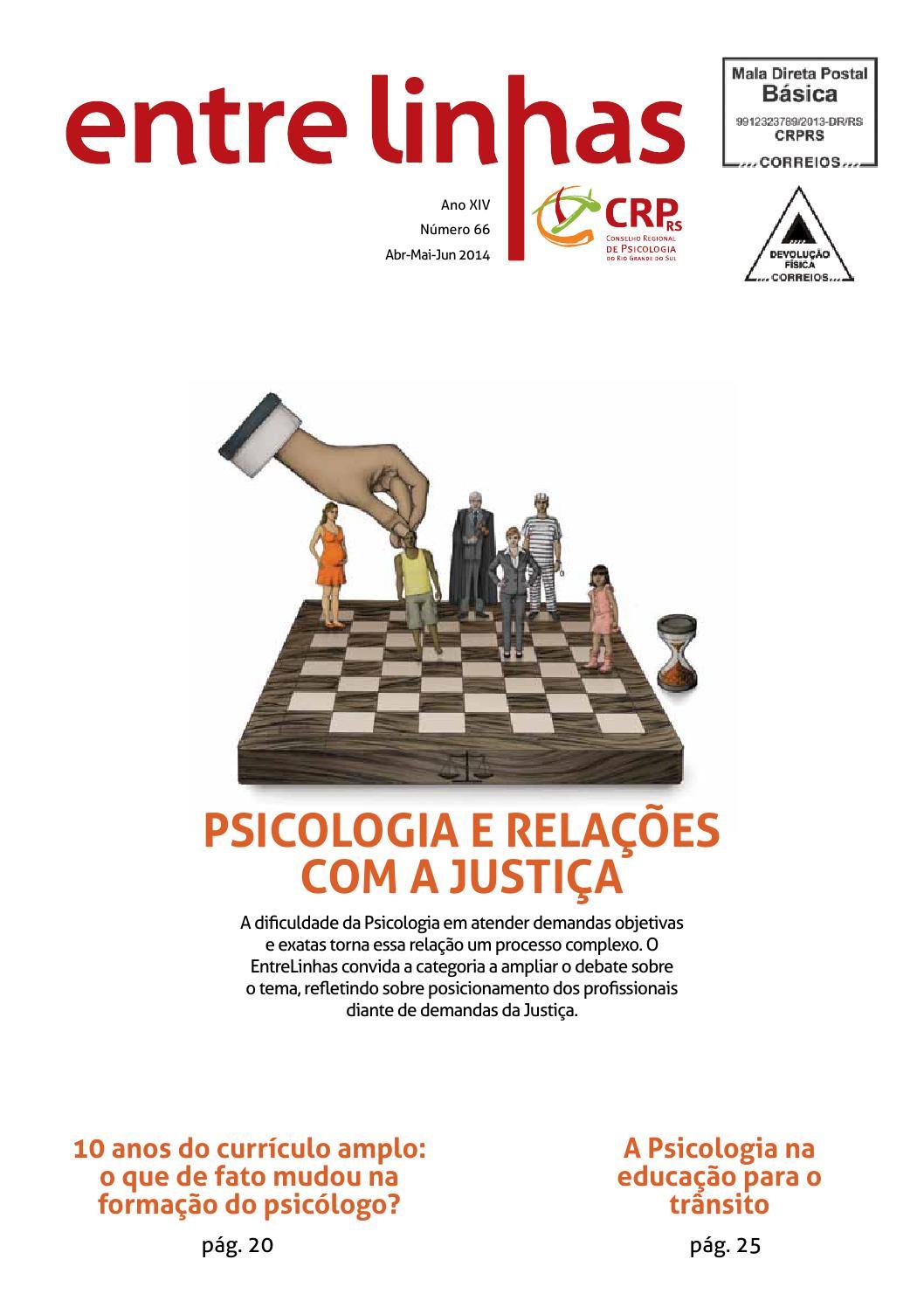 EntreLinhas nº 12 by Conselho Regional de Psicologia do RS   issuu