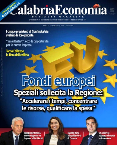f1007736d6 Calabria Economia - n.1 2014 by Mediaservice - issuu