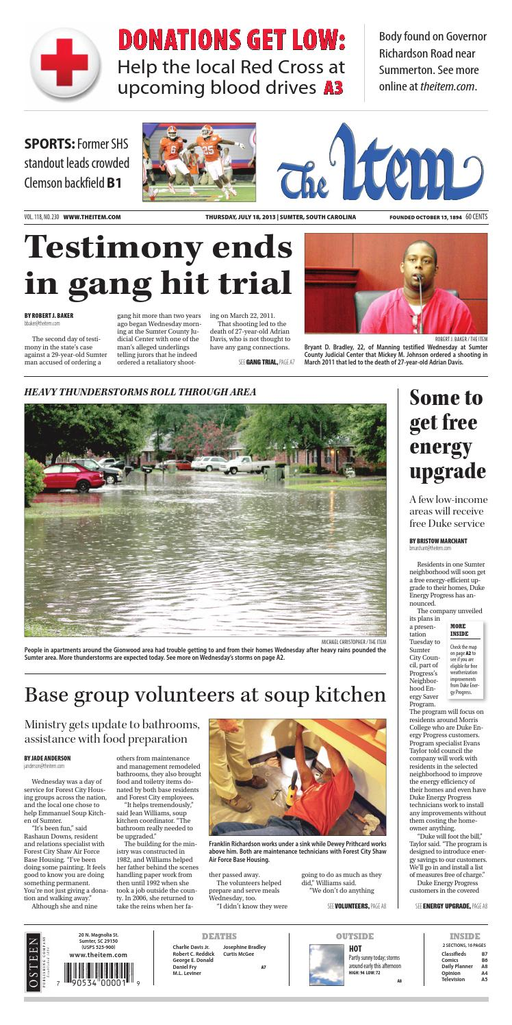 July 18, 2013 by The Sumter Item - issuu