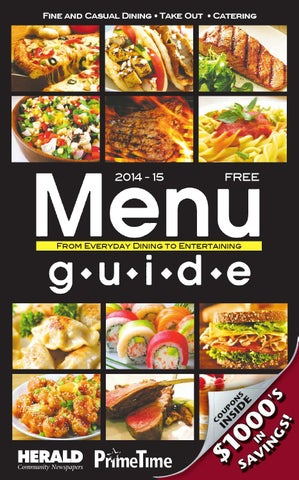 Menu guide 2016 east by Richner Communications, Inc - issuu