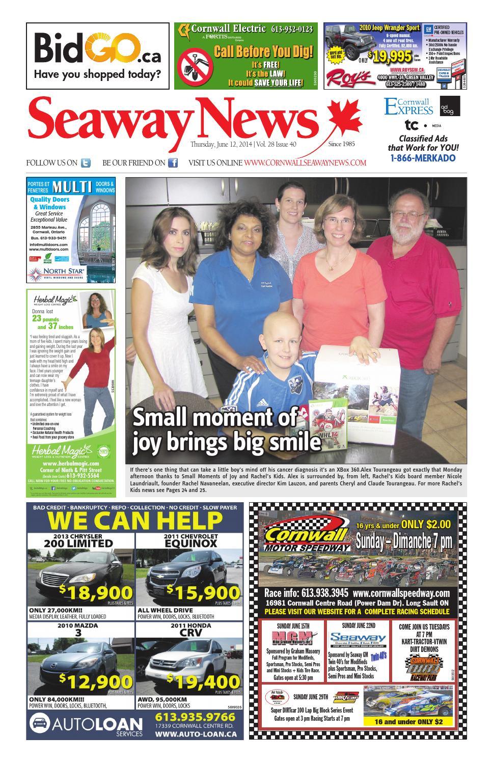Cornwall seaway news June 12, 2014 Edition by Cornwall Seaway News - issuu