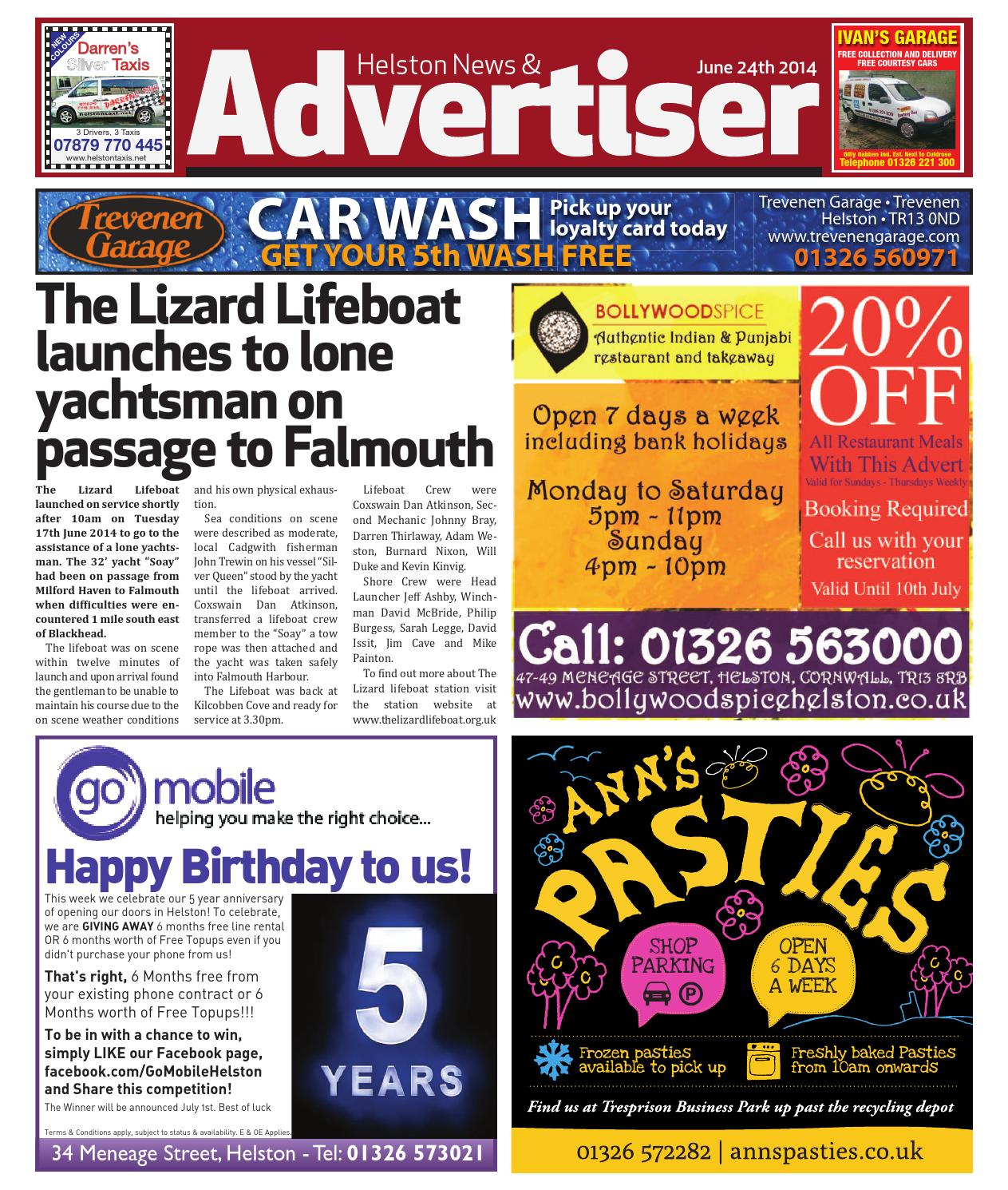 5b3f0d583989 Helston News   Advertiser - 24th June 2014 by Helston Advertiser - issuu