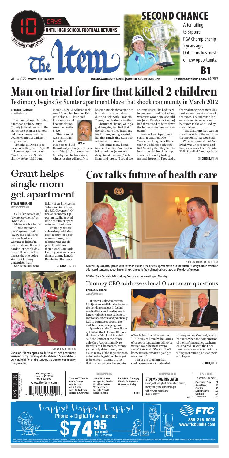 August 13, 2013 by The Sumter Item - issuu