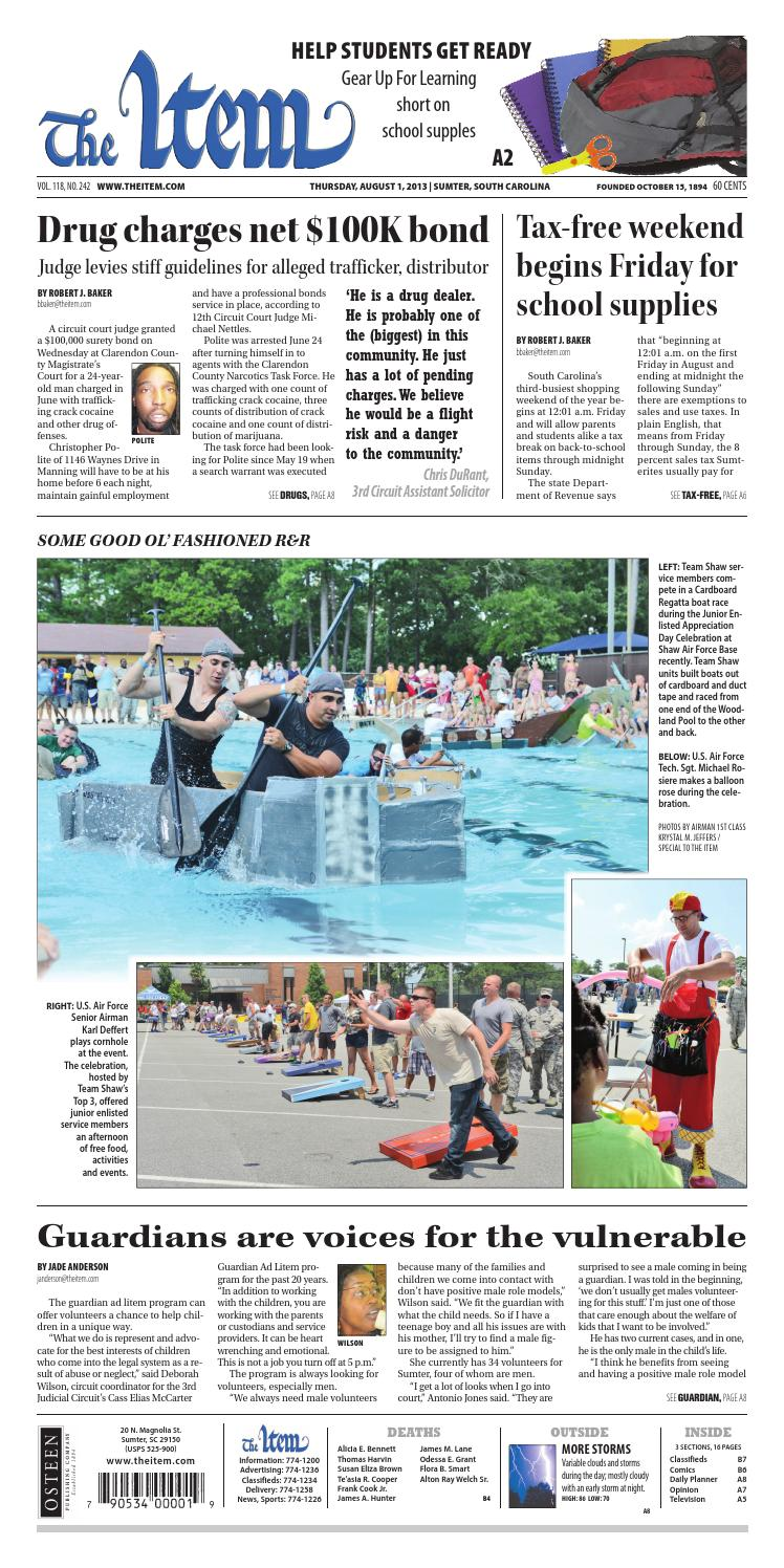 August 1, 2013 by The Sumter Item - issuu