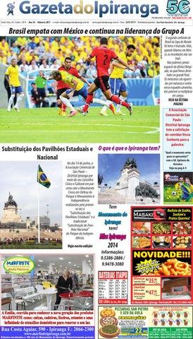 46aa04417a8 Edicao de 20 06 2014 - Gazeta do Ipiranga by Casé Oliveira - issuu