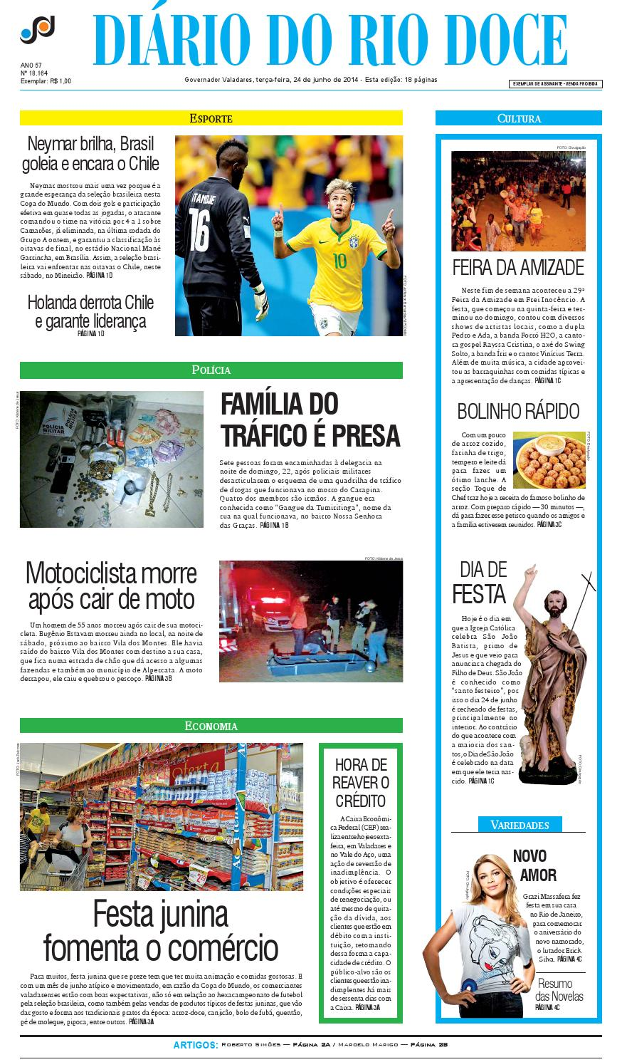 Diário do Rio Doce - Edição de 24 06 2014 by Diário do Rio Doce - issuu fb031849b0ced