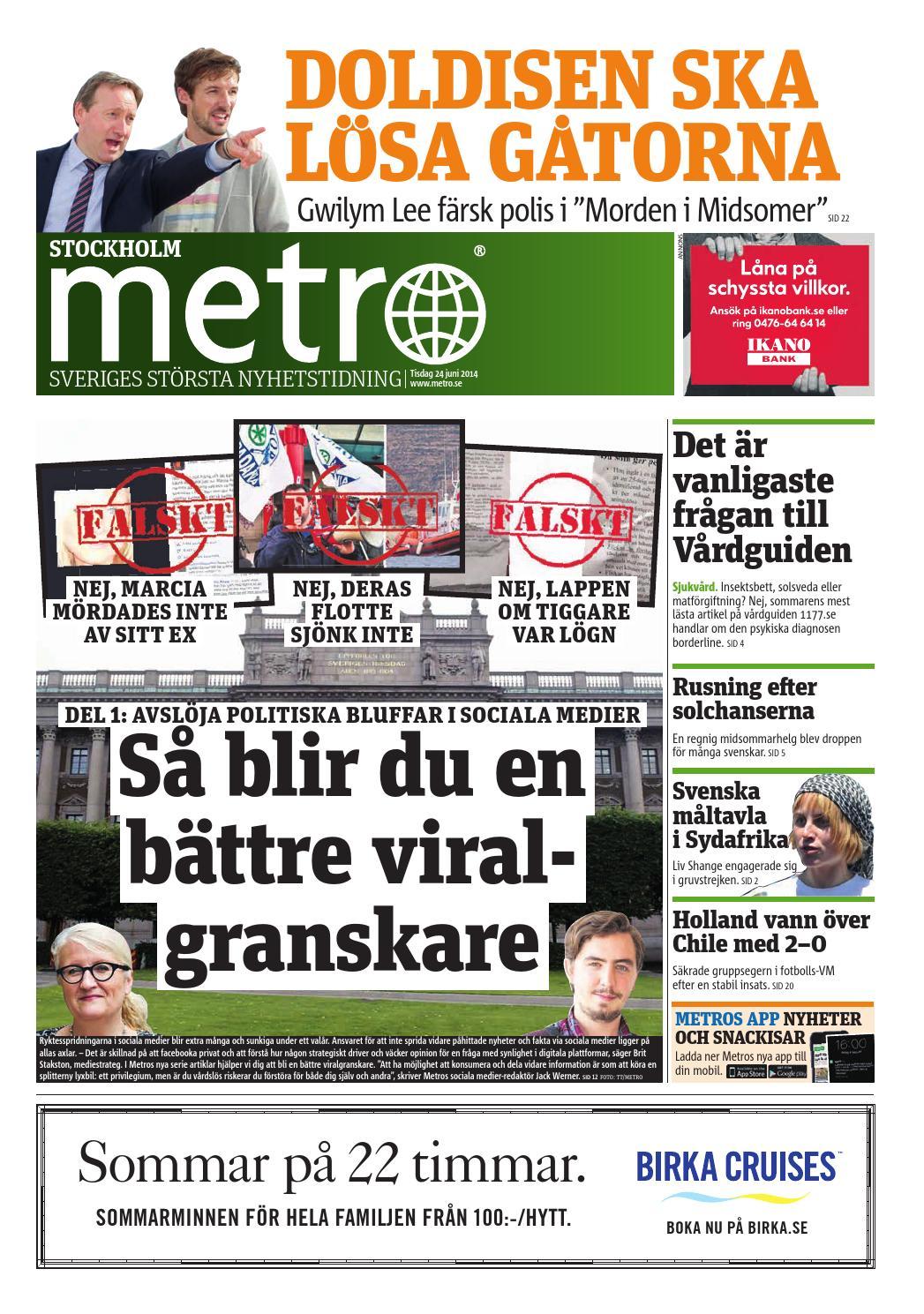 2ef9797e9c3 20140624_se_stockholm by Metro Sweden - issuu