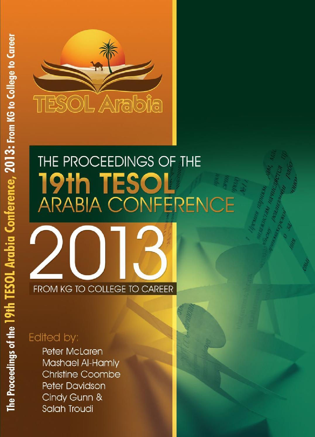 tacon 2013 proceedings by tesol arabia perspectives issuu