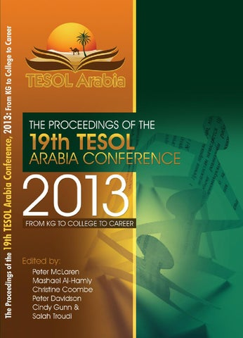 Tacon 2013 proceedings by tesol arabia perspectives issuu page 1 fandeluxe Gallery