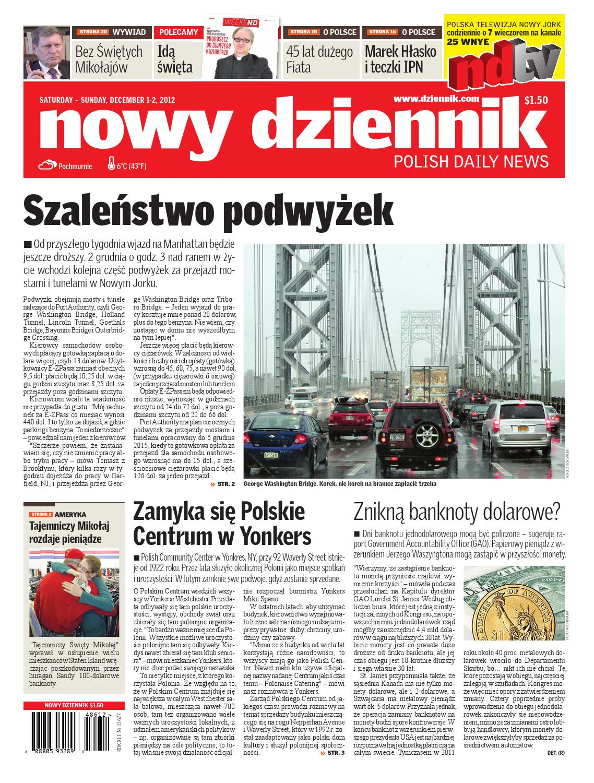 cf8d6ca05419f2 Nowy Dziennik 2012/12/01 by Nowy Dziennik - issuu