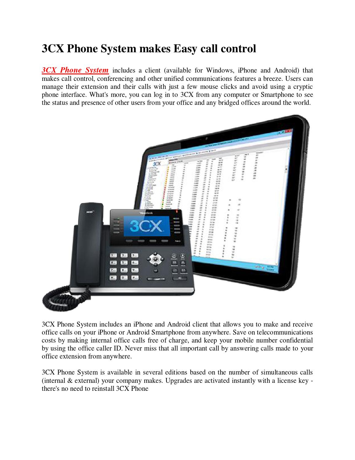 3cx phone system makes easy call control by Terence King - issuu