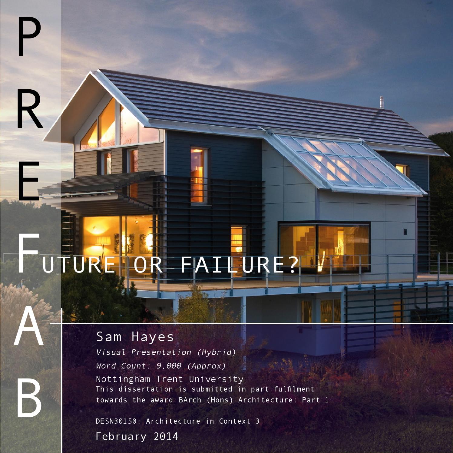 PREFAB : Future Or Failure?   Dissertation By Sam Hayes By Sam Hayes   Issuu